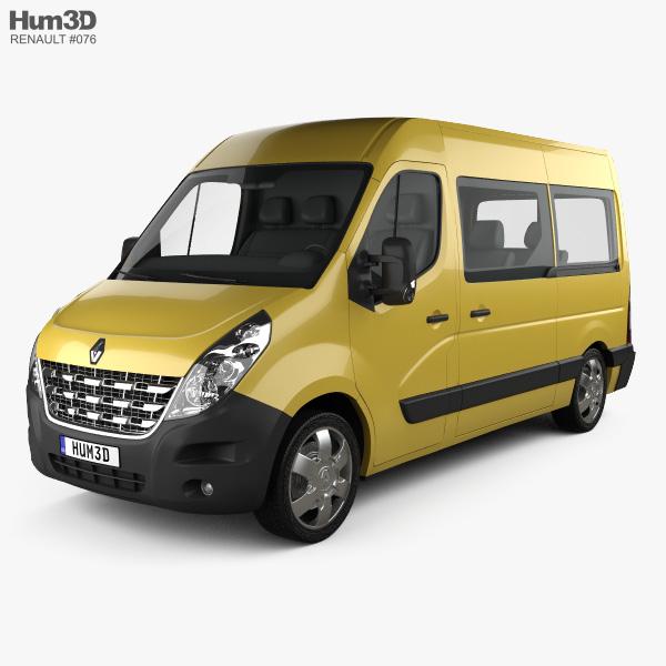 3D model of Renault Master Passenger Van 2010