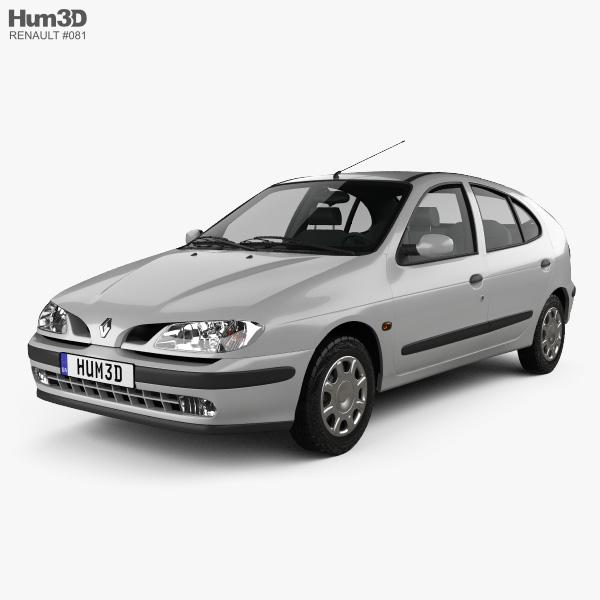Renault Megane 5-door hatchback 1995 3D model