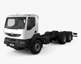 3D model of Renault Kerax Chassis Truck 1997