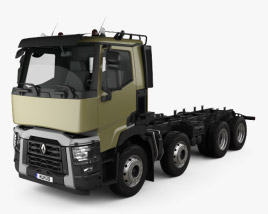 3D model of Renault C Chassis Truck 2013