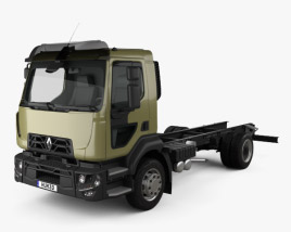 3D model of Renault D 14 Chassis Truck 2013