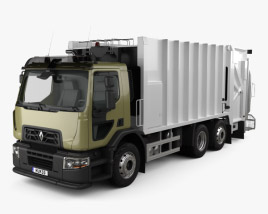 Renault D Wide Rolloffcon Garbage Truck 2013 3D model