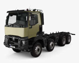 3D model of Renault K 430 Chassis Truck 2013