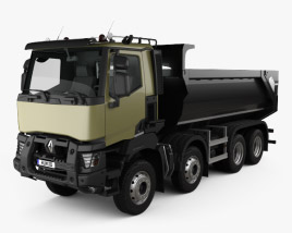 3D model of Renault K 430 Tipper Truck 2013