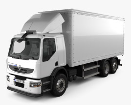 Renault Premium Distribution Hybrys Box Truck 2011 3D model