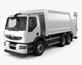 3D model of Renault Premium Distribution Hybrys Garbage Truck 2011