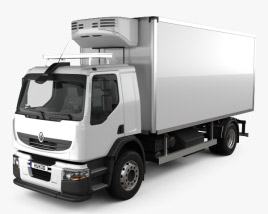 3D model of Renault Premium Distribution Refrigerator Truck 2011