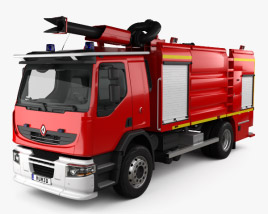 3D model of Renault Premium Lander Fire Truck 2011