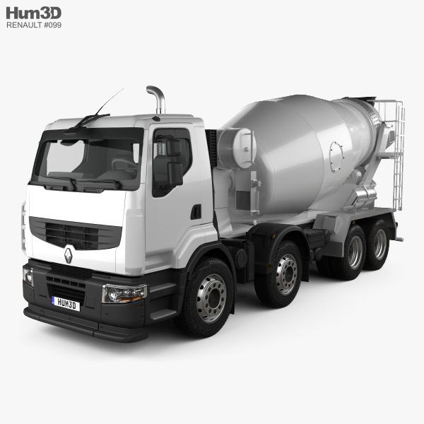 Renault Premium Lander Mixer Truck 2006 3D model