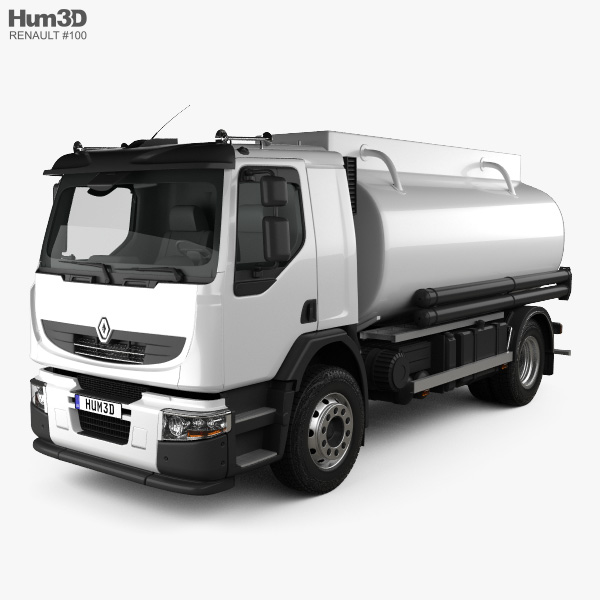 Renault Premium Lander Tanker Truck 2006 3D model