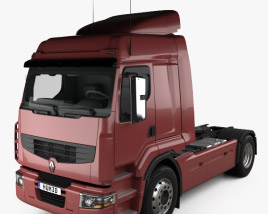 3D model of Renault Premium Route Tractor Truck 2006