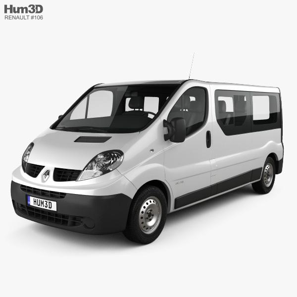 3D model of Renault Trafic Passenger Van LWB 2010