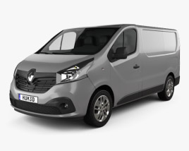 3D model of Renault Trafic Panel Van 2014