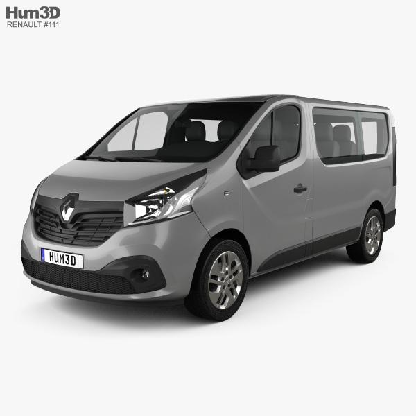 3D model of Renault Trafic Passenger Van 2014