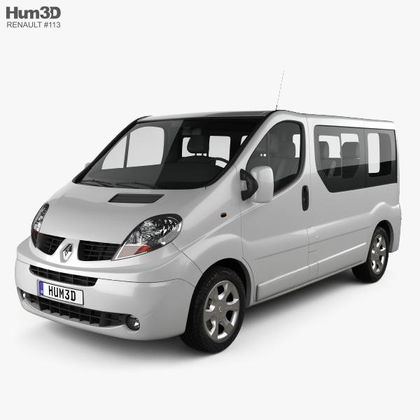 3D model of Renault Trafic Passenger SWB SR 2011