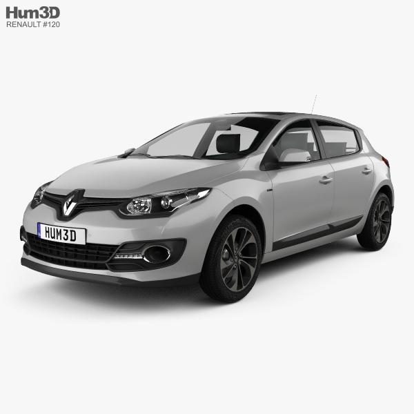 Renault Megane hatchback 2014 3D model