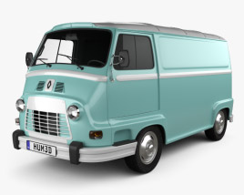 3D model of Renault Estafette Panel Van 1976