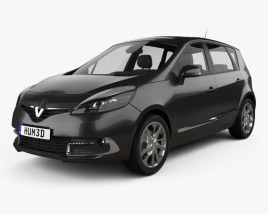3D model of Renault Scenic MPV 2013