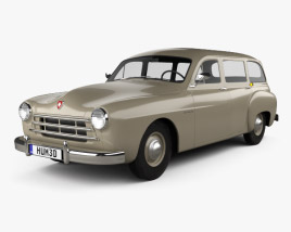 3D model of Renault Fregate wagon 1956