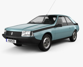 3D model of Renault Fuego 1980