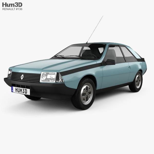 Renault Fuego 1980 3D model