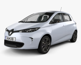 3D model of Renault ZOE with HQ interior 2013