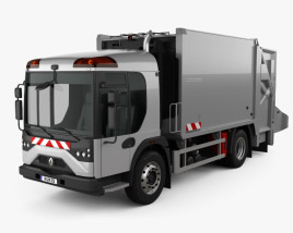 3D model of Renault Access Garbage Truck 2013