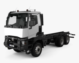 3D model of Renault K Chassis Truck 2013