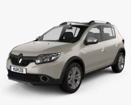3D model of Renault Sandero Stepway 2014