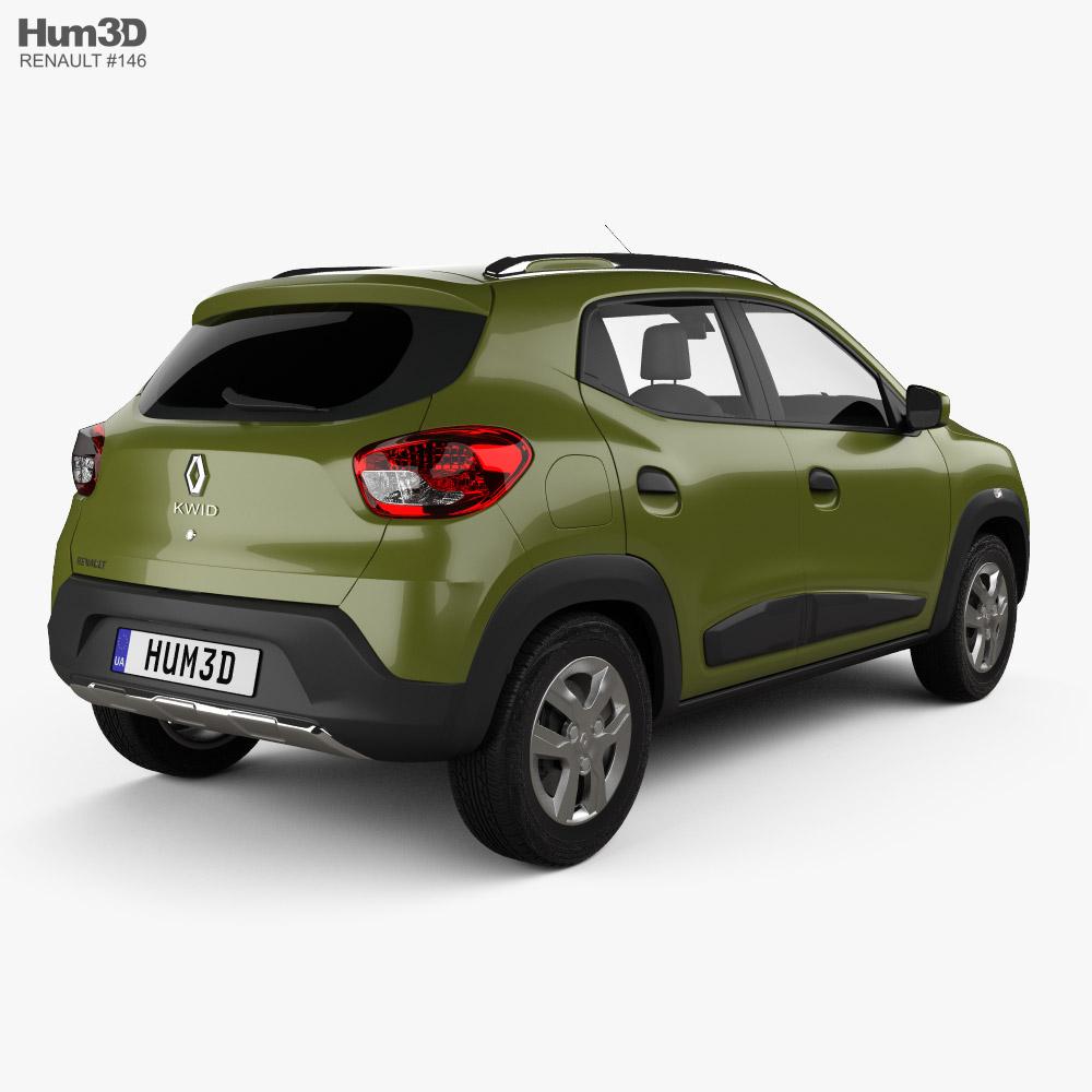 Renault Kwid 2016 3d model back view