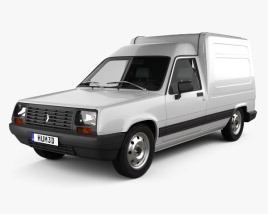 3D model of Renault Express with HQ interior 1985