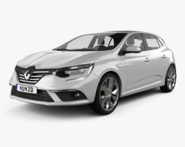 3D model of Renault Megane hatchback 2016