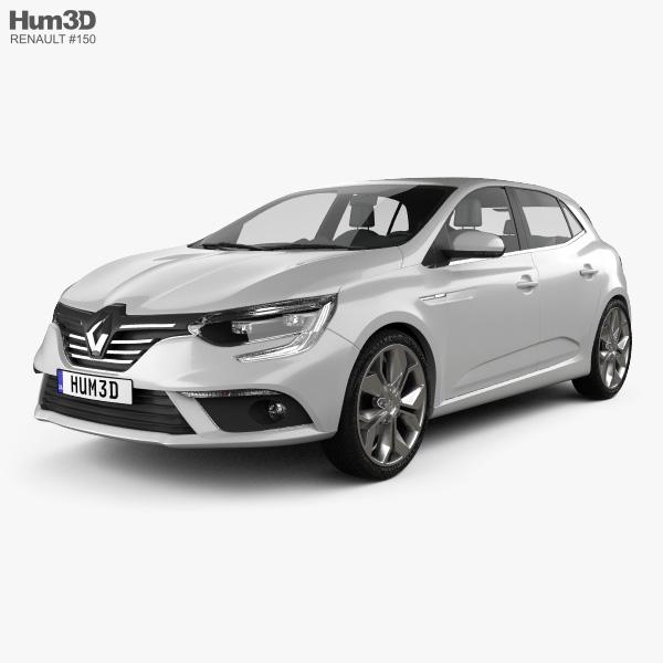 Renault Megane hatchback 2016 3D model