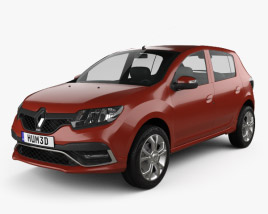 3D model of Renault Sandero RS 2015