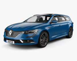 3D model of Renault Talisman estate 2016