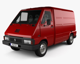 3D model of Renault Master Panel Van 1980