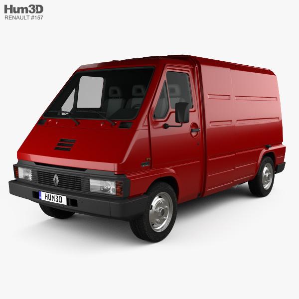 3D model of Renault Master Panel Van 1980