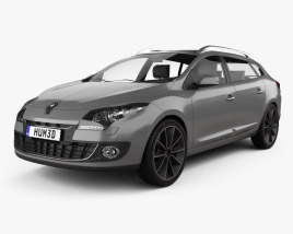 3D model of Renault Megane Estate 2012