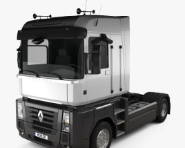 3D model of Renault Magnum Tractor Truck 2011