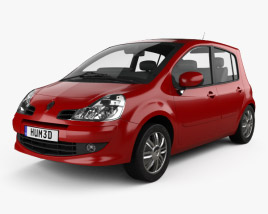 3D model of Renault Modus 2008