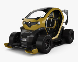 3D model of Renault Twizy Z.E. R.S. F1 2013