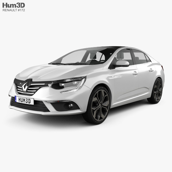 Renault Megane sedan 2016 3D model