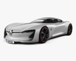 3D model of Renault Trezor 2016