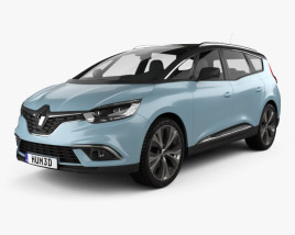 3D model of Renault Grand Scenic Dynamique S Nav 2017