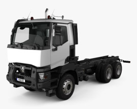 3D model of Renault K Day Cab Chassis Truck 2016