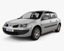 3D model of Renault Megane 5-door hatchback 2006