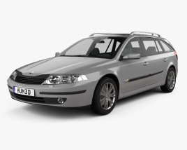 3D model of Renault Laguna estate 2000