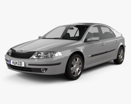 3D model of Renault Laguna liftback 2000
