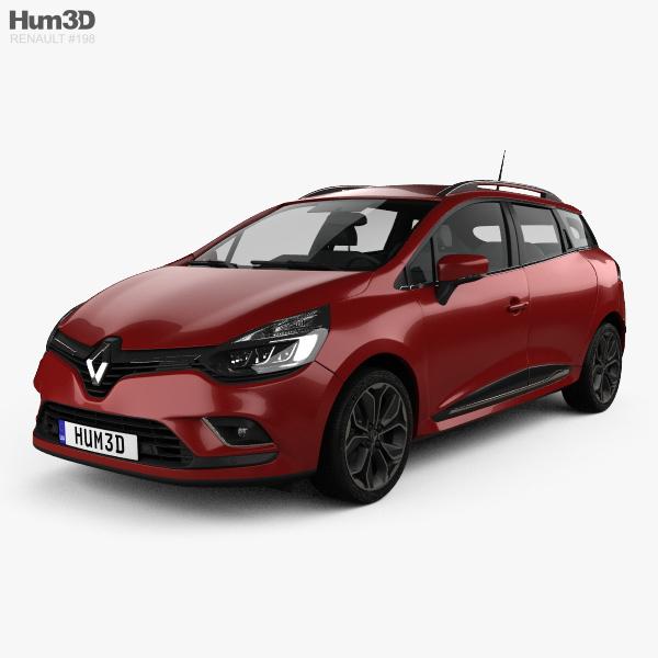 Renault Clio Signature Nav Estate 2016 3D model