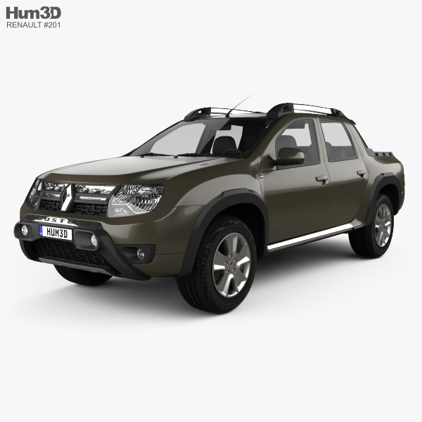 3D model of Renault Duster Oroch BR-spec 2015